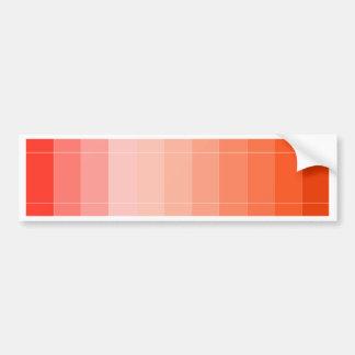 Only Color Orange Ombre Bumper Sticker