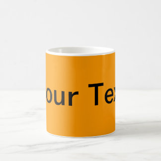 ONLY COLOR / orange + your text Mugs
