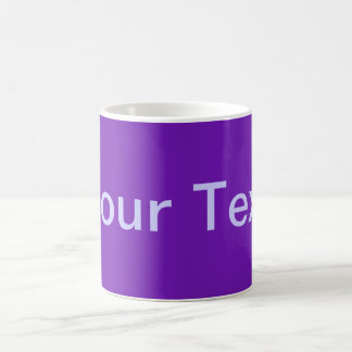 ONLY COLOR / purple + your text Coffee Mug