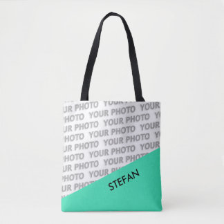 ONLY COLOR RECTANGLES - mint green + your ideas Tote Bag