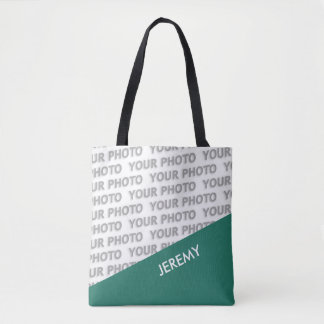 ONLY COLOR RECTANGLES - ocean green + your ideas Tote Bag