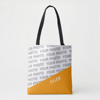 ONLY COLOR RECTANGLES - orange + your ideas Tote Bag