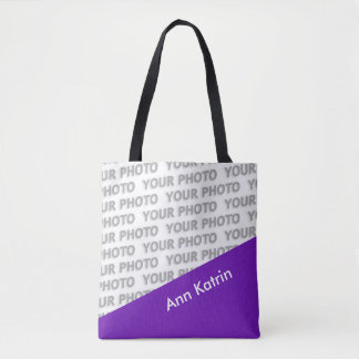 ONLY COLOR RECTANGLES - purple + your ideas Tote Bag