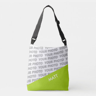 ONLY COLOR RECTANGLES - spring green + your ideas Crossbody Bag
