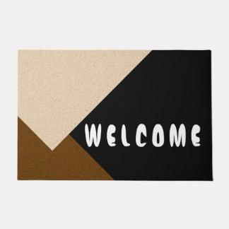ONLY COLOR STRIPES - brown beige + your backg. Doormat