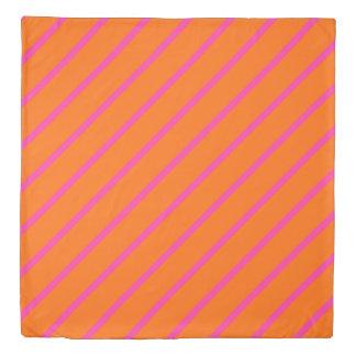 ONLY COLOR STRIPES - orange, pink Duvet Cover