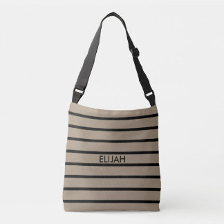 ONLY COLOR STRIPES - stone + your backgr. & ideas Crossbody Bag