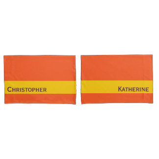 ONLY COLOR STRIPES - sun yellow Pillowcase