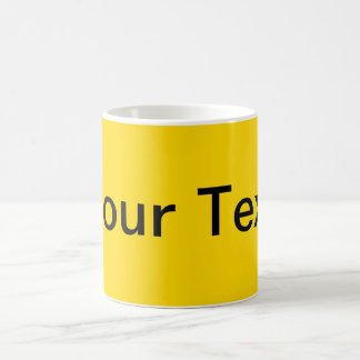 ONLY COLOR / yellow + your text Mugs