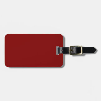 Only cool red wine maroon solid color background bag tag