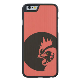 Only Coral Head Rooster Carved Maple iPhone 6 Case