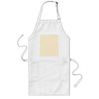 Only cream pale pretty solid color background long apron