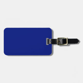 Only dark blue elegant solid OSCB33 Luggage Tag