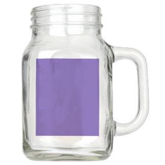 Only deep violet purple solid color OSCB49 Mason Jar
