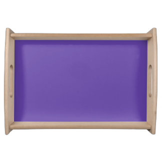 Only deep violet purple solid color OSCB49 Serving Tray
