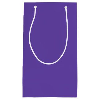 Only deep violet purple solid color OSCB49 Small Gift Bag