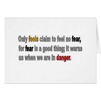 Only Fools are Fearless Line Card