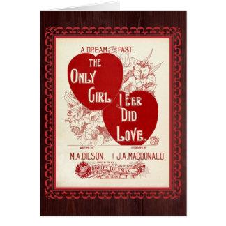 Only Girl I E'er Did Love – Vintage Valentine Card