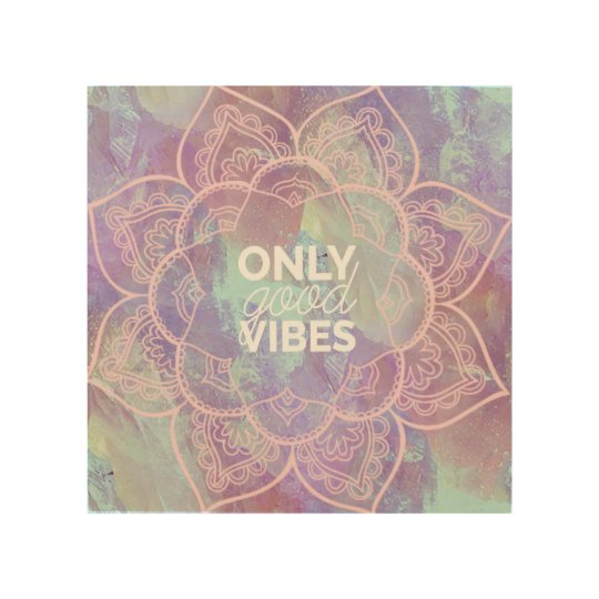 Only Good Vibes Wood Wall Decor