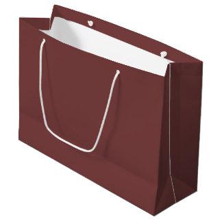 Only gorgeous warm burgundy marsala solid OSCB21 Large Gift Bag