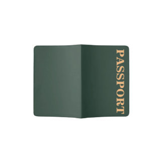 Only green forest vintage solid color OSCB29 Passport Holder