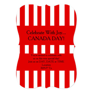 Only Happiness Canada Day Party Invitation