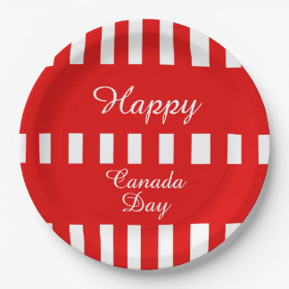 Only Happiness Canada Day Party Paper Plates