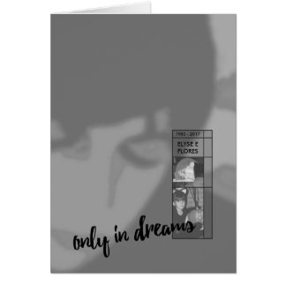 only in dreams funeral invitations greeting card