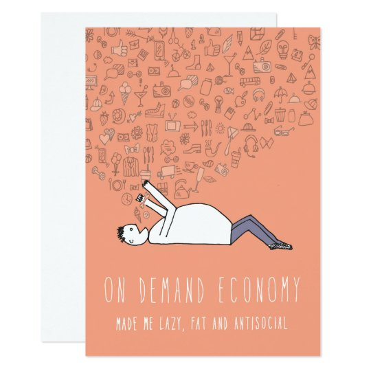 Only in Silicon Valley Greeting Card: On Demand Card