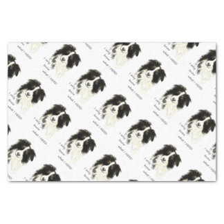 Only know what I herd Border Collie Humor Quote Tissue Paper