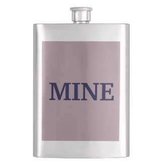 Only lavender dusty pretty solid color OSCB08 Hip Flask