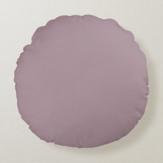 Only Lavender dusty pretty solid colour background Round Pillow