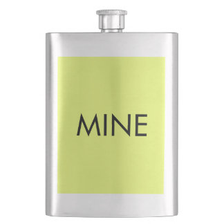 Only lime yellow cool solid color background flask