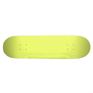 Only lime yellow cool solid color background skate board decks