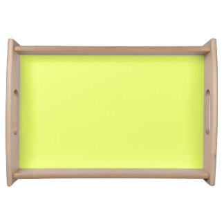 Only lime yellow cool solid color OSCB20 Serving Tray