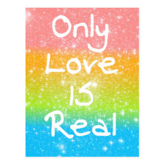 Only Love is Real Postcard