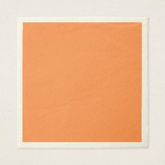 Only melon orange pretty solid OSCB46 background Paper Napkin