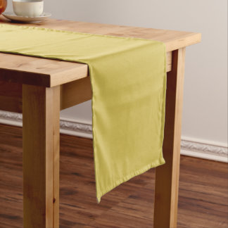 Only mustard misted yellow cool solid OSCB41 Short Table Runner