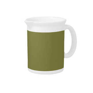 Only olive green cool solid color background drink pitcher