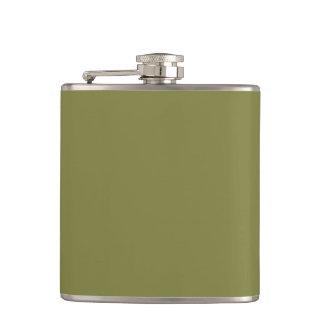 Only olive green cool solid color background flasks