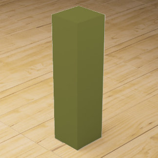 Only olive green cool solid color background wine bottle boxes
