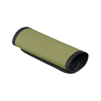 Only olive green cool solid color background luggage handle wrap