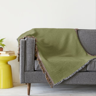Only olive green cool solid color background throw