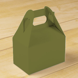Only olive green cool solid color OSCB24 Favor Boxes