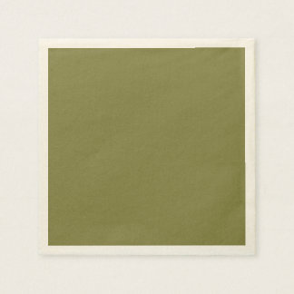 Only olive green cool solid color OSCB24 Paper Napkin