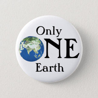 Only one Earth 2 Inch Round Button