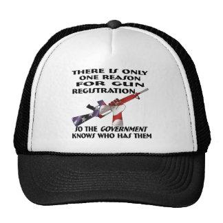 Only ONE Reason For Gun Registration Trucker Hat
