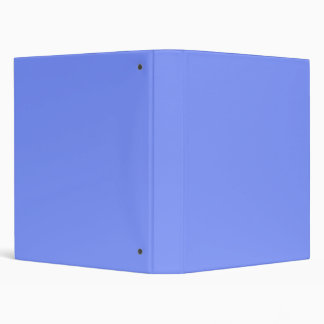 Only periwinkle blue elegant solid color OSCB32 3 Ring Binders
