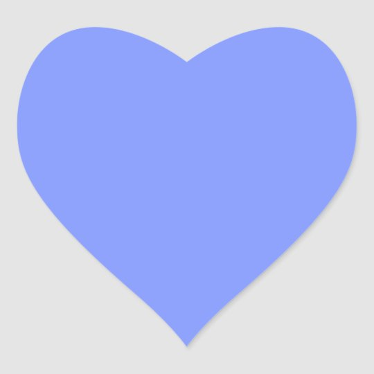 Only periwinkle blue elegant solid colour OSCB32 Heart Sticker