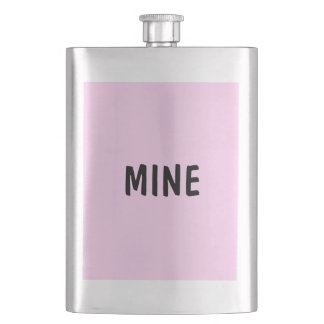Only Pink solid color classic flask